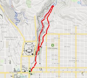 City Creek Park & Freedom Trail Map