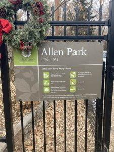 Entrance to Allen Park