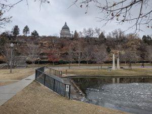 The Utah Capitol from Memory Grove Park